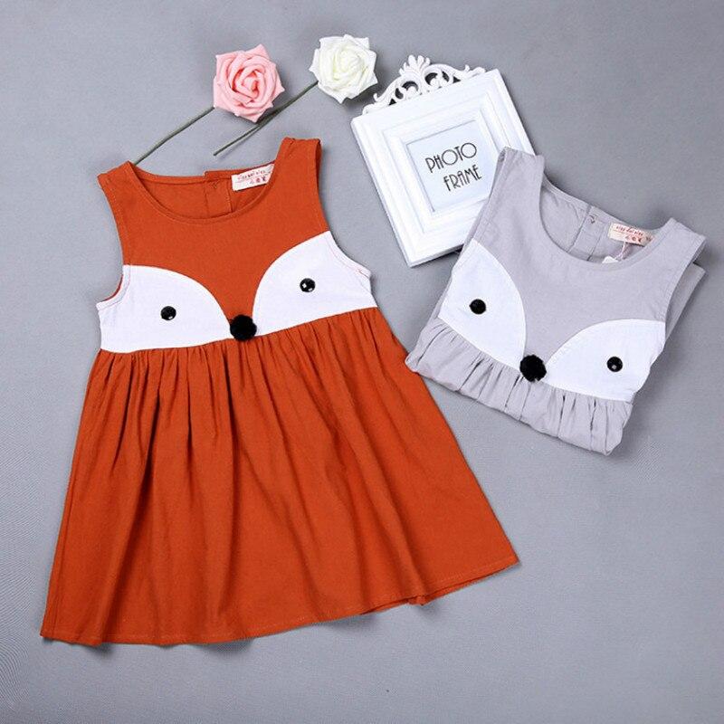 c1b1889b5be2fc 2 7 jaar meisjes kleding nieuwe 2016 zomer katoen cartoon vos orange grijs  kinderkleding vest jurken voor meisje gdr128 in 2-7 jaar meisjes kleding  nieuwe ...
