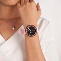 Reloj mujer madera silicona 1
