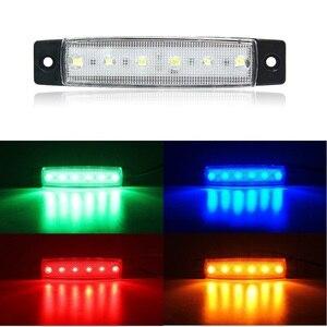 ANBLUB LED Car External Light 12V 24V 6 LEDs Auto Bus Truck Lorry Side Marker Lamp Rear Warning Light Indicator Light(China)