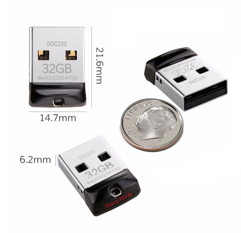 US $3 23 34% OFF|SanDisk Cruzer Fit CZ33 Super mini USB Flash Drive 64GB  USB 2 0 sandisk pen drive 32GB memory stick Pen Drives 16GB U disk-in USB