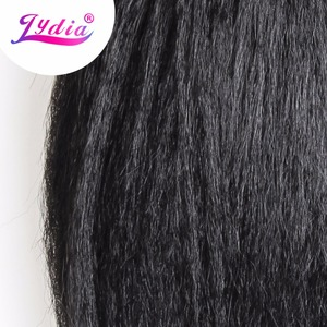"""Image 3 - Lydia For Women Kinky Straight 5PCS/Pack Synthetic Hair Extension 14""""16""""18"""" Hair  Weaving Kanekalon Pure Color Hair Bundles"""