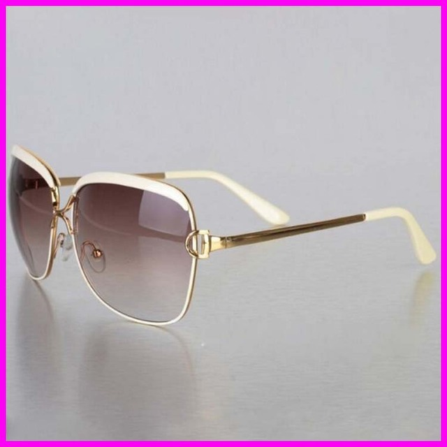 2016 New Ladies luxury Sunglasses Womens Fashion Brand Designer Metal Frame UV protection