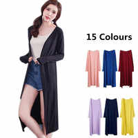 New Arrive Women Spring brand Cotton Top Thin Blouse Long Sleeve Cardigan long Sweater Coat Big Size M-4XL BLACK RED WHITE pink