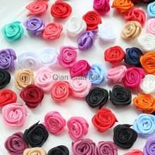 500 шт атласные розетки разных цветов размер 18 25 мм