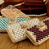 Luxury 3D Bling Crystal Diamond Leather Flip Stand Phone Cases Cover For Apple Iphone 4 5
