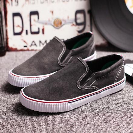 Бесплатная доставка 2016 новая мода осень мужчины обувь сплошной цвет квартиры холст loafer мужчины причинно-следственной обувь высокого качества