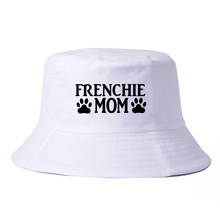 Pure cotton Frenchie Mom Bucket Hats leisure fisherman hat outdoor fishing caps climbing mountaineering hunting cap
