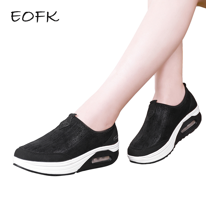 EOFK Women Flat Platform Shoes Woman Winter With Fur Moccasin zapatos mujer Slip On Ladies Shoes Casual Flats Plush Moccasins summer women flat platform shoes woman casual mesh breathable slip on zapatos mujer ladies flats moccasins plus size 35 42 lx5