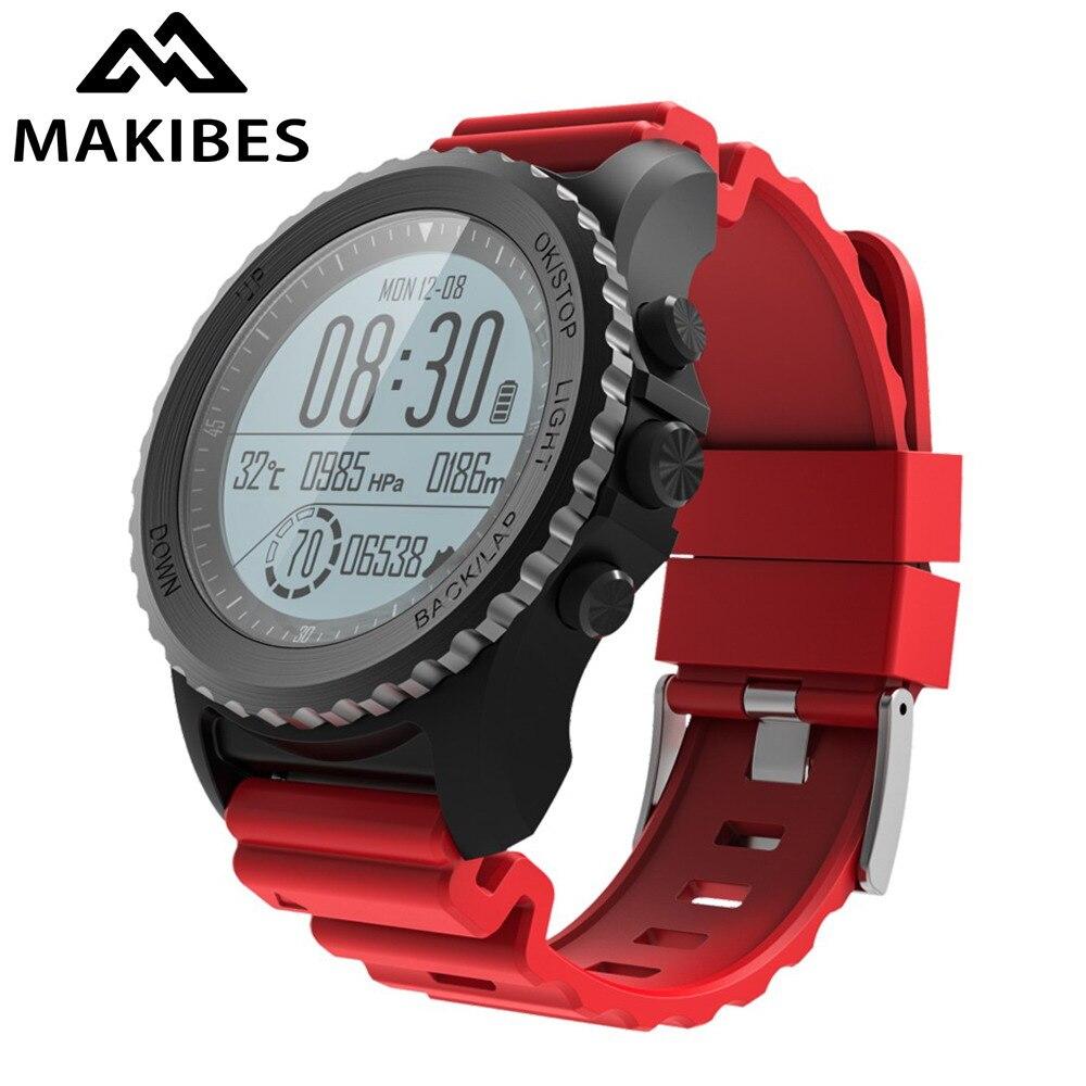 d6ea84d2da58 Makibes G07 GPS reloj deportivo Bluetooth Smart Watch IP68 impermeable  monitor de frecuencia cardíaca dinámica Multi-sport Men Watch GPS tracker  envíos ...