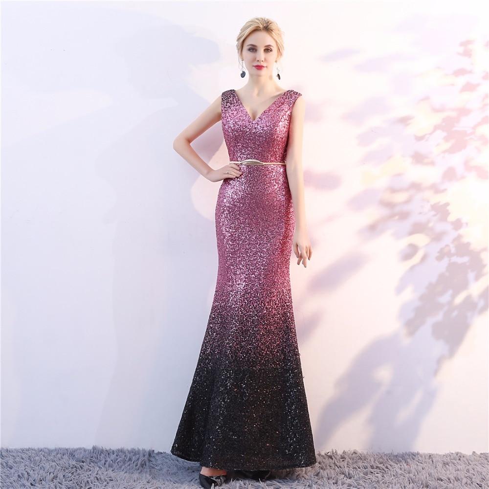 երեկոյան զգեստներ վարդագույն անթև - Հատուկ առիթի զգեստներ - Լուսանկար 2