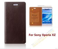 Top Quality Genuine Leather Stand Fashion Book Style Phone Case For Sony Xperia XZ F8332 F8331