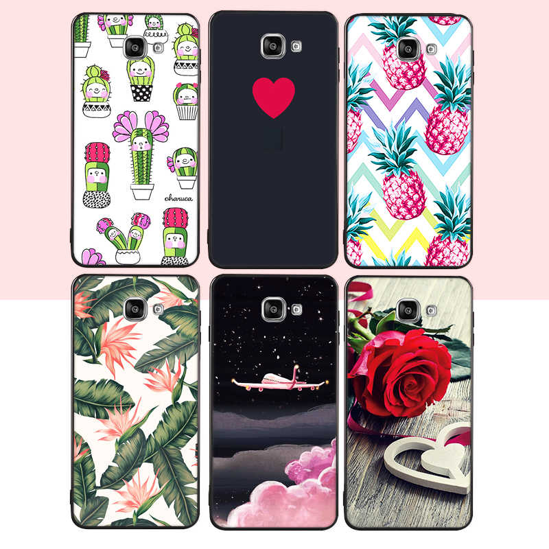 Soft Silicon Phone Case For Samsung Galaxy J3 J5 J530 J7 2017 EU A5 A7 A3 2016 A8 Plus 2018 Lover Heart Cases Starry Sky Pattern