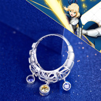 Fate/Stay Night Saber Ring Altria Pendragon Armour 925 Sterling Silver Jewelry Free With Silver Chain Women Costume Accessories