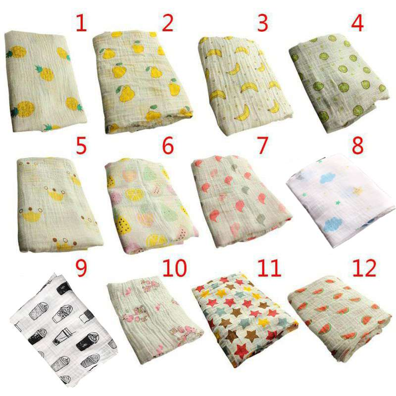 New Cotton Blankets Baby Muslin Blanket Swaddle Soft Newborn Baby Bath Towel Multi Functions Baby Wrap Kids Bed Sheet