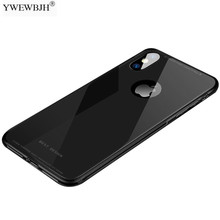 YWEWBJH Luxuxy Tempered Glass Phone Cases For iPhone 7 86S Plus Case Protective Back Soft Silicone Edge Cover X