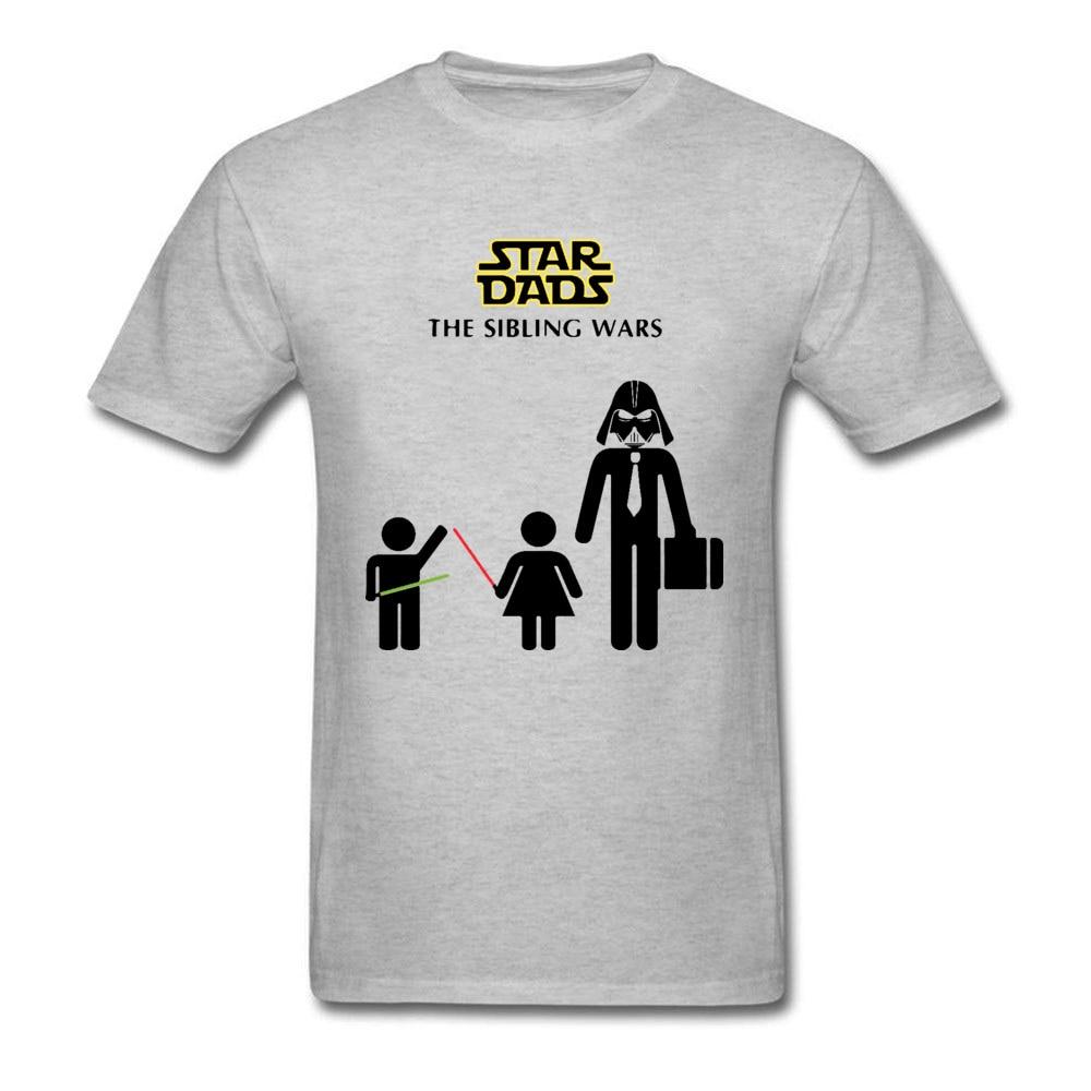 Star Dads The Sibling Wars Darth Vader Starwars Tshirt Slim Fit Summer 100% Cotton Crewneck Mens Tops & Tees Grey Clothing Shirt