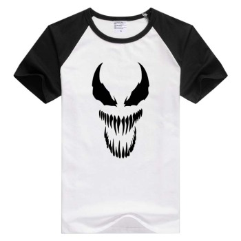 Venom Spiderman Black and White short sleeve Men Women T-shirt Tshirt Cool Print Tops Fashion Tees Novelty tee GA1386