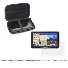 """7"""" Inche Automobile Moveable Shield Case bag + Clear Display screen Protector Defend Movie for Garmin Nuvi 2797 2797LT 2797LM 2797LMT"""