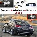 3 in1 Especial Cámara de Visión Trasera + Receptor Inalámbrico + Espejo Monitor de Copia de seguridad de Sistema de Aparcamiento Para Subaru Legacy B4 Libertad MK5