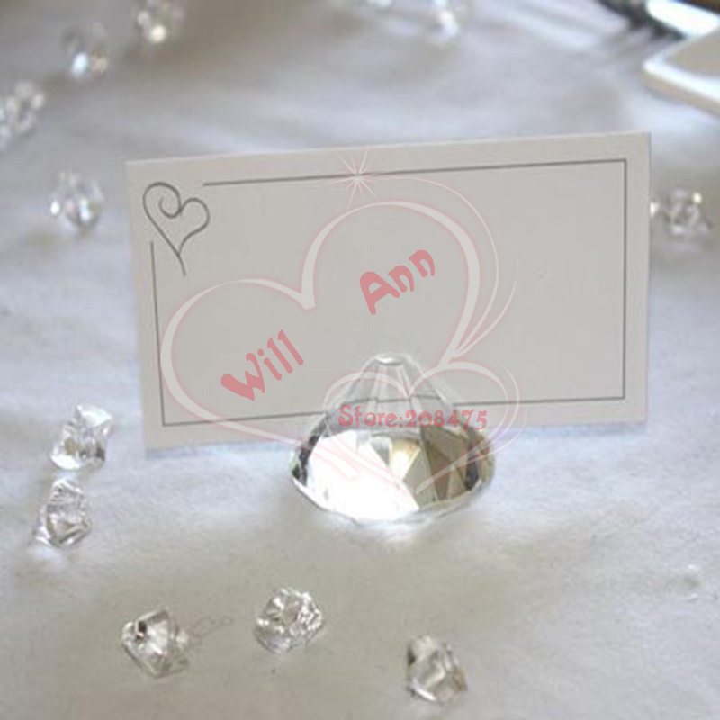 Wedding Diamond Card Holder Crystal Place Card Holder for Wedding Table Decoration 50PCS LOT