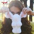 Suave Piel de Conejo Auténtica Pompón De Piel de Conejo Llavero llavero Colgante llavero de Regalo Mujeres Del Encanto Del Bolso de Accesorios F #61