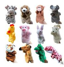 New Arrival Animal Hand Puppet Toys Plush Puppets Sloth Rabbit Cow Cat Monkey Snake Doll Baby Toy Zodiac animal hand-parent-chil