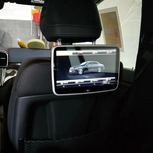 Car Television Back Seat Tv Monitor For 2015 Mercedes Gle Class Android Headrest Dvd Entertainment System