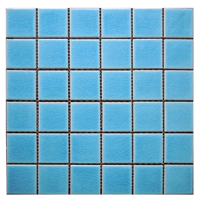 Free shipping cracked pattern blue ceramic mosaic tile for bathroom and kitchen decoration wall tile swimming pool mosaic tile free shipping wave pattern 100% natural penguin shell and chinese freshwater shell mother of pearl tile wall tile