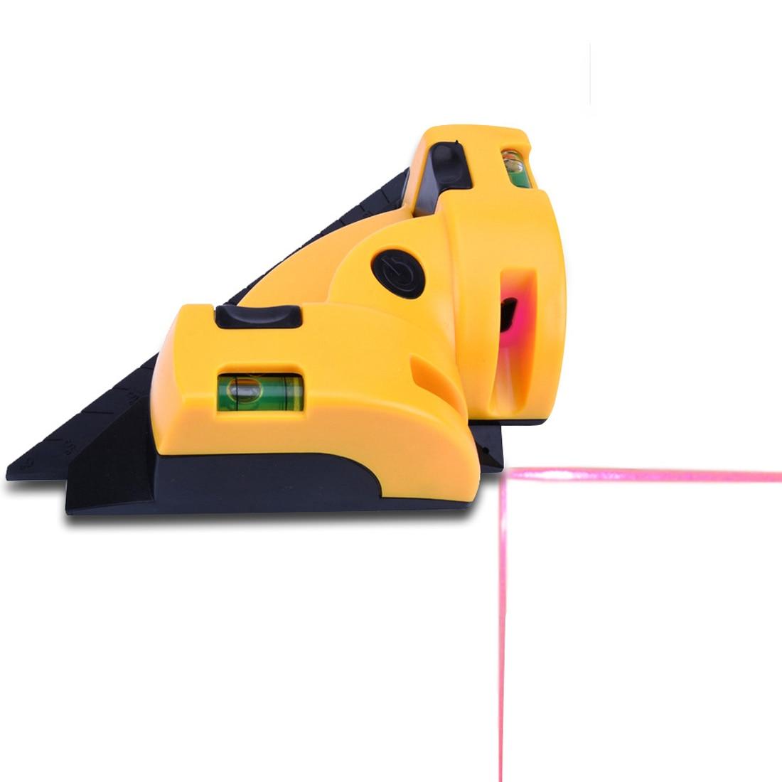 Rechten Winkel 90 Grad Vertikale Horizontale Laser Linie Projektion Platz Ebene