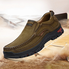 Stylish Men Comfortable Sneakers Waterproof Shoes Hiking Shoes Leather Sneakers Man Hiking boots Anti-skid Outdoor Sports Shoes недорго, оригинальная цена
