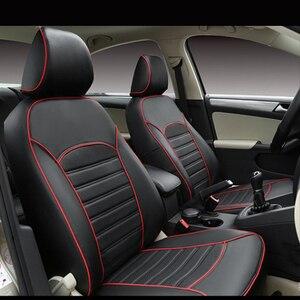 Image 1 - Carnong غطاء مقعد السيارة الجلود مخصص صالح لل مقعد السيارة الأصلي نفس الهيكل مغطاة بالكامل حامي غطاء مقعد السيارات