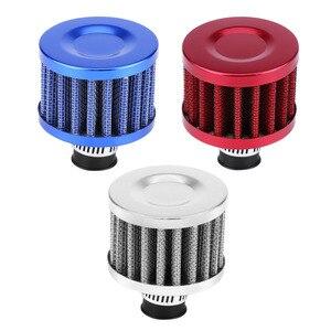 Image 2 - Комплект дыхательного фильтра 12 мм, воздухозаборный фильтр холодного воздуха, автомобильный двигатель, масло/воздух/индукция, Стайлинг автомобиля