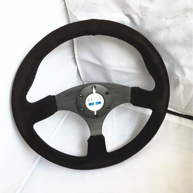 14-inch KEYS RACING leather aluminum frame racing steering wheel fit for BMW M/// X1X2X3X4X5X6X7 AUDI Q1Q2Q3Q4Q5Q6 A1A2A3A4A5A6