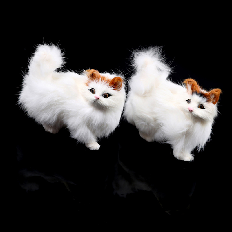 Lovely Simulation Animal Doll Plush Standing Cats Toy Kids Stuffed Toys Decorations Birthday Gift For Kids Children