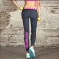 2016 Mulheres Sexy Legging Cintura Baixa Leggings Esportivos Sportswear Secagem rápida Magro Carta Feminino Push Up Deportiva Leggins