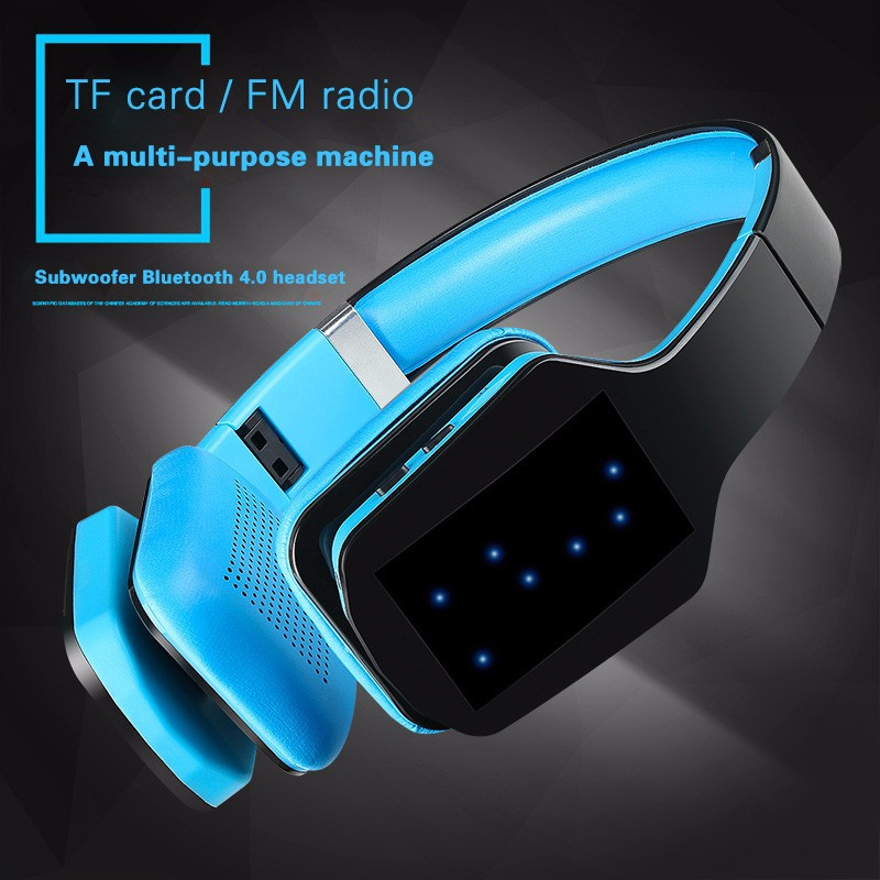 Headphone nirkabel, Bluetooth Stereo S650 Gaming Headset Bluetooth Earphone dengan mikrofon FM Radio kartu TF untuk komputer