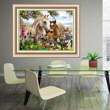 5d diy diamant malerei vogel blumen pferd kreuzstich landschaft hand home dekorative 3d platz voller diamanten stickerei