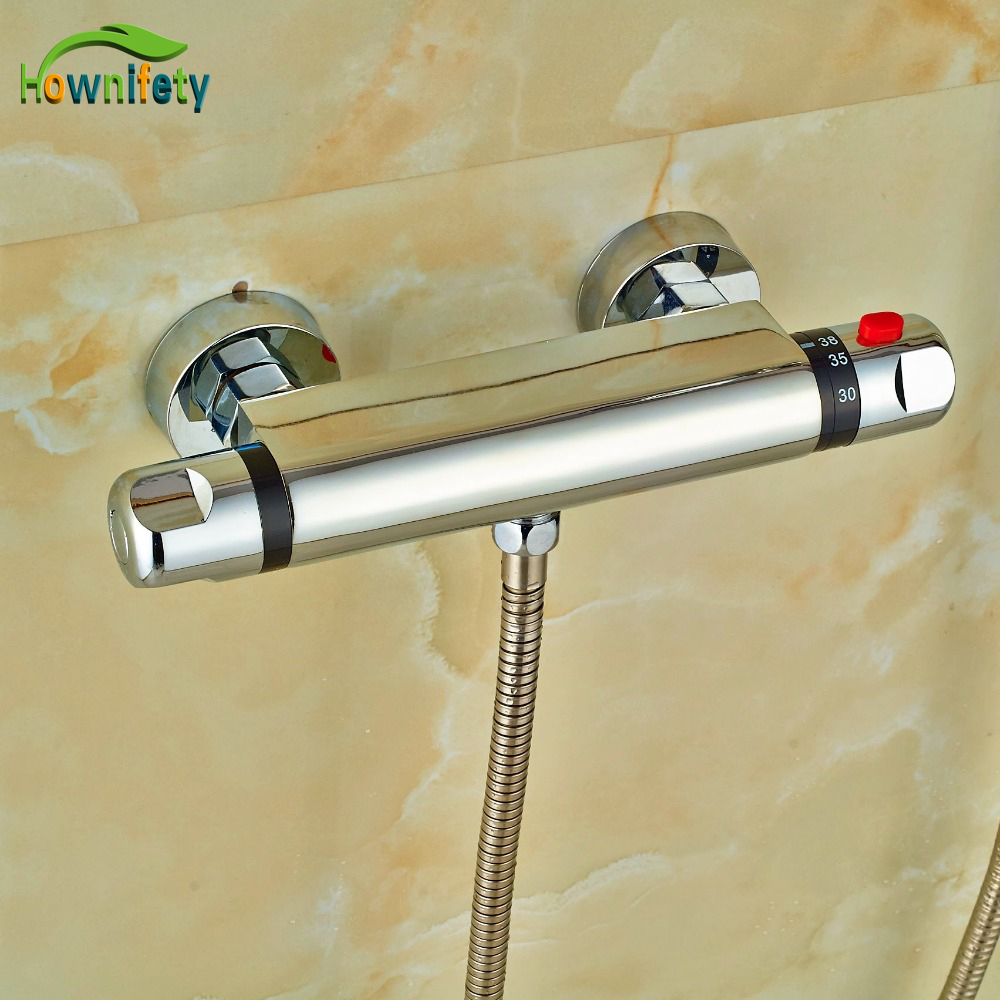 Europ Design Brass Chrome Polish Mixer Mixer Body Bathroom Thermostatic Shower Fittings