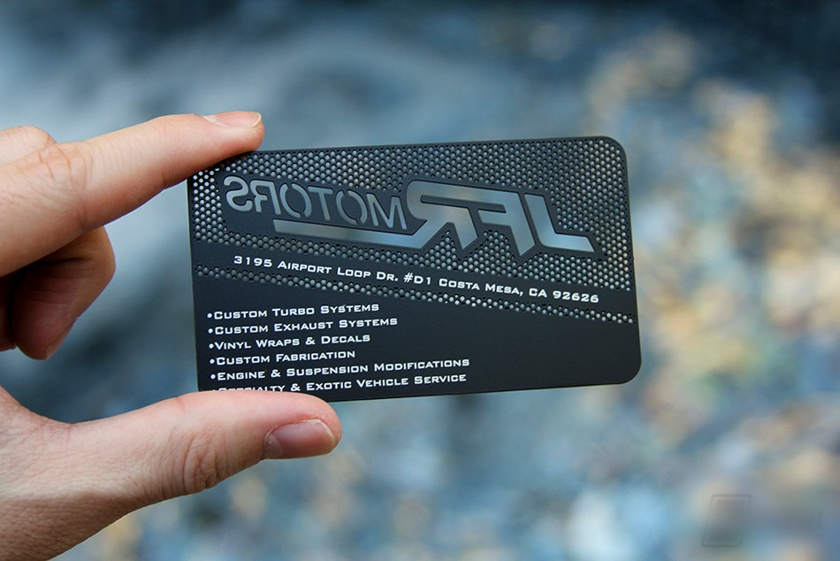 Personalized stainless steel business card hollow metal card custom metal business card design