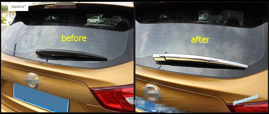ABS ! Accessories For Nissan Qashqai J11 2014 2015 2016 2017 Rear Window Wiper Protector Molding Cover Kit Trim 3 Pcs