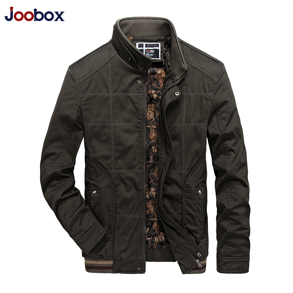 JOOBOX Winter Jacket Men Windproof 2019 New Army Warm Coat Thick Cotton-Padded Famous Brand Thicken Parkas Mens Jackets ClothesY