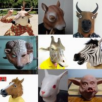 New Halloween Horse latex hood animal RAM masquerade   party   halloween carnival latex   mask   realistic RAM   mask   Carnaval Costume men