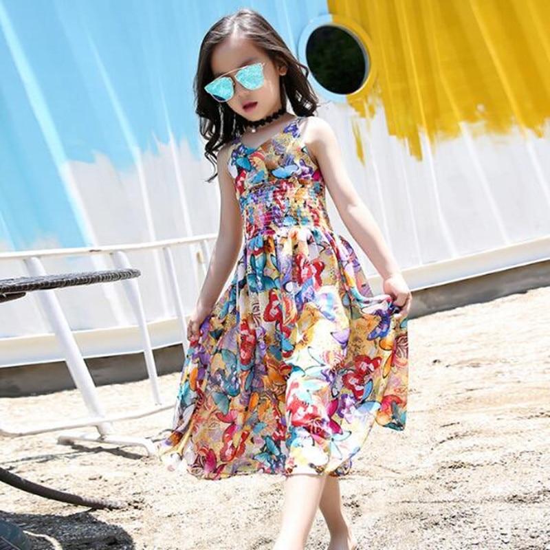 14d5bb34 Aliexpress.com : Buy Fashion New 2017 Bohemian Print Girls Dress Summer  Dresses Beach Strap Baby Dress Child Kids Dresses For Girls Clothes JW1129  from ...