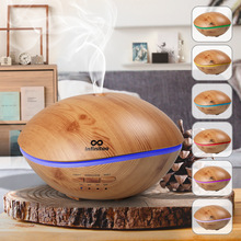 500ML LED Lamp Air Ultrasonic Humidifier for Home Essential Oil Diffuser Atomizer Air Freshener Mist Maker for home цена и фото