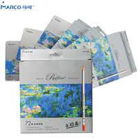 Marco Raffine Fine Art 24/36/48/72 Color Non-toxic Color Pencil lapis de cor Professional Colored Pencils for School Supplies