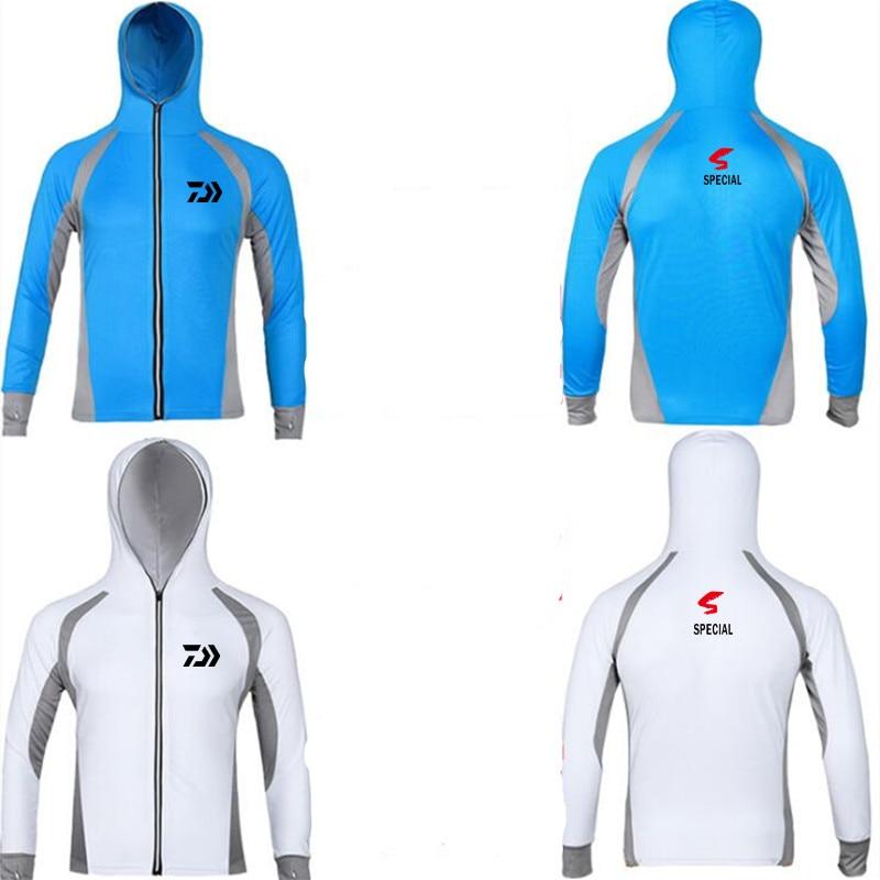 New 2019 Daiwa Performance Fishing Shirt Men UPF 50 UV Sun Protection Quick Dry Mesh Cooling long Sleeve Fishing Clothes