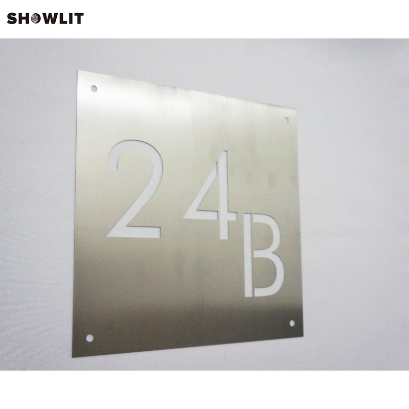 Presion Producing Laser Cutting House Sign Door Numbers