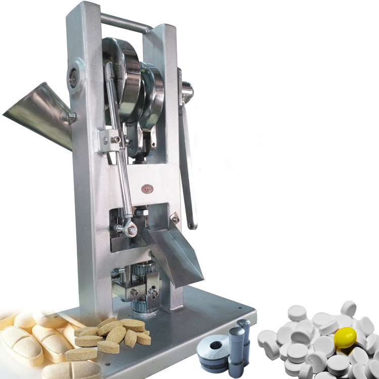 Manual Single Punch Tablet Press Pill Making Machine Maker TDP-0 capsulcn tdp 00 mini manual tablet handheld pill press machine without any mold suitable for tdp 0 1 5 5 6 press machine