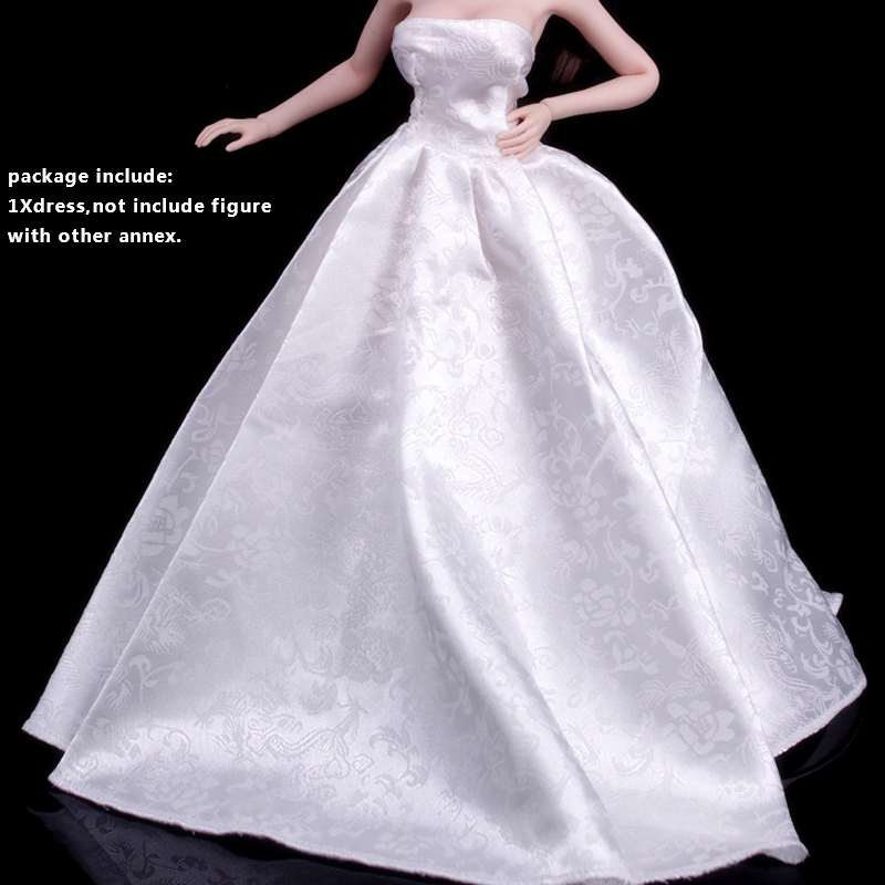 1//6 Female Strapless Long Sleves Evening Dress Model 4 Colors Fit PH TBL Doll