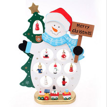 Wooden Xmas Tree Christmas Holiday Festival Party Ornament Decoration Supplies